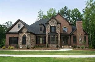 Homes with Brick and Stone Combination