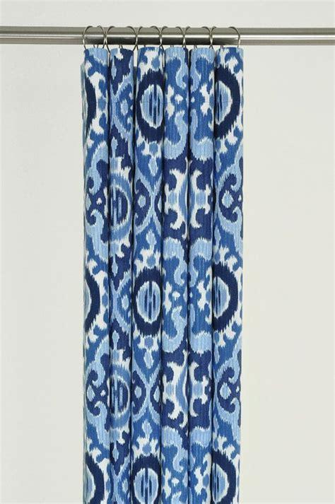 navy blue ikat shower curtain 72 x 72 mediterranean by