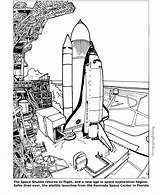 Space Coloring Pages Shuttle Printable Sheets Colouring Sheet Print Printables sketch template
