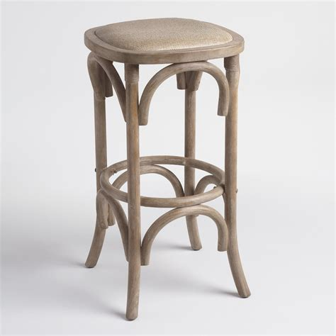 bar stools backless gray yasmin backless barstool with rattan seat world market 1477