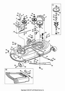 Mtd 13w2775s231  Lt4200   2013  Parts Diagram For Mower Deck