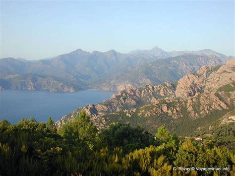 golfo di porto panorama golfo di porto corsica francia