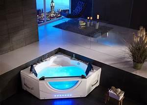 Baignoire Pour Deux : baignoire baln o d 39 angle 2 places ushuaya baignoire ~ Premium-room.com Idées de Décoration