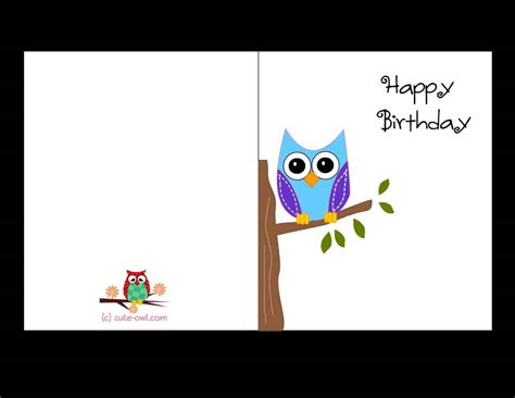 birthday card boy template free printable birthday cards template