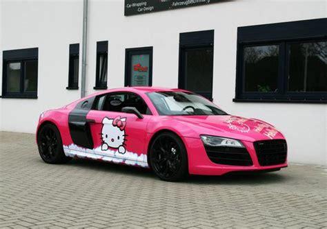 pink audi    kitty loves  autoevolution