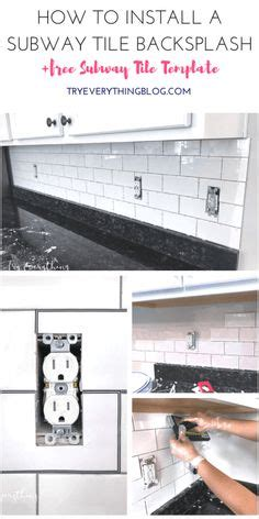 how to install subway tile kitchen backsplash daltile granite cotton white tile we 9458