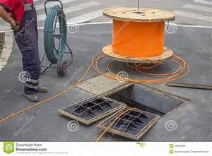 Fiber Optic Installation 2 stock photo. Image of digging ...