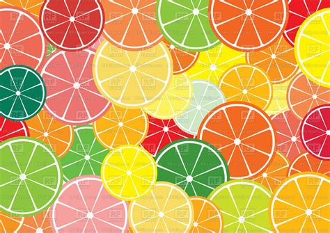 Seamless Abstract Background With Citrus Slices Vector