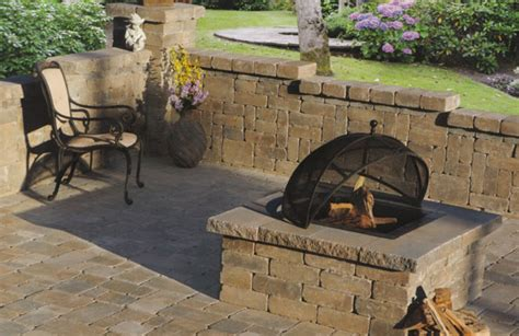 ashland flagstone pit patio block project kit