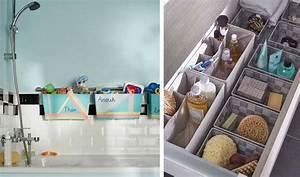 25 astuces de rangements pour la salle de bains Rangement maquillage, shampoing