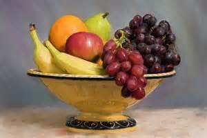 Fruit Bowl Banana Grapes Apple Pear Orange