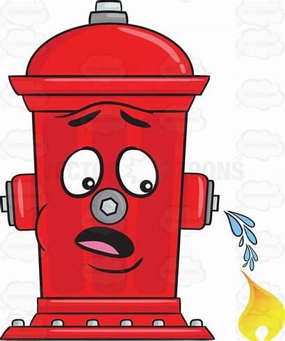 Hydrant Clipart Water Fire Emoji Flushing Wondering