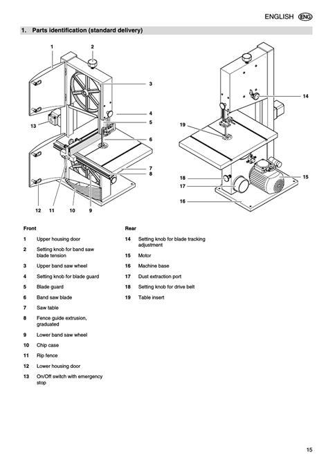 parts identification standard delivery elektra beckum bas 316g dnb user manual
