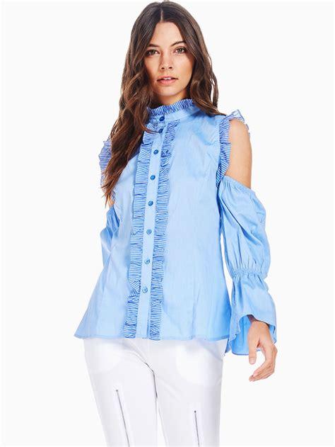 cold shoulder blouses tov cold shoulder baroness blouse modishonline com