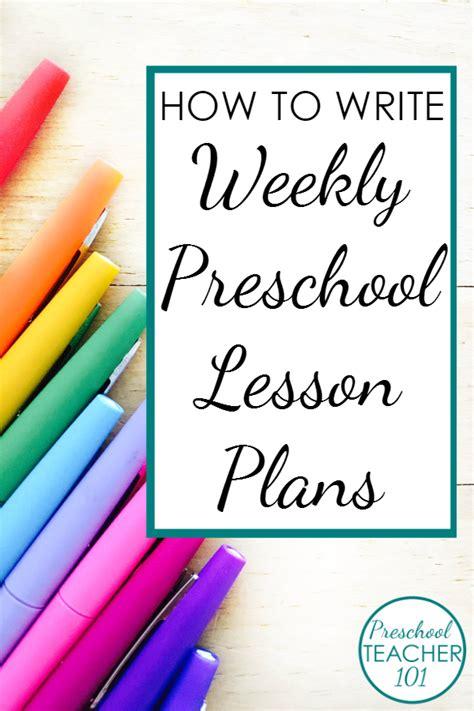 preschool lesson plan template  weekly planning