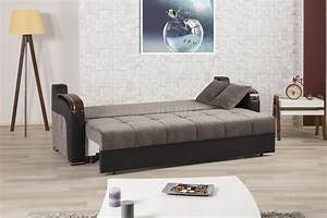 divan deluxe signature sofa bed in gray fabric by casamode With divan sofa bed