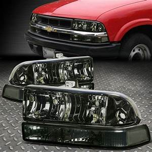 87 S10 Lights For 1998 2004 Chevy Blazer S10 Pair Smoked Housing Clear