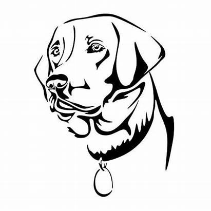 Labrador Lab Dog Silhouette Cuttable Line Designs