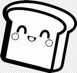 Bread Slice Coloring Kawaii Unicorn Sheets Pngjoy sketch template