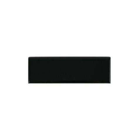 daltile semi gloss black 2 in x 6 in ceramic bullnose