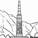 Minaret Afghanistan Jam Tower Pages Coloring Sketch Template sketch template