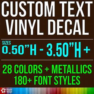 custom vinyl lettering decal personalized sticker window With personalized vinyl lettering