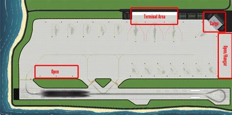 1400 Model Airport Tropical Single Runway Foils  Airport Diorama Designs