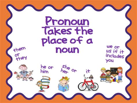 Pronouns  Mrs Warner's 4th Grade Classroom