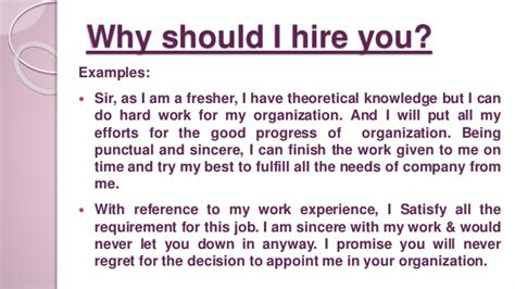 Why Should We Hire You Answers by Why You Should Hire Me Cover Letter Need To Help