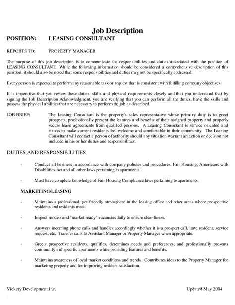 Leasing Consultant Resume Sle by Luxury Leasing Resume Atclgrain
