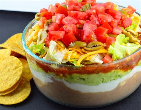 dips cuisine 7 layer dip recipe genius kitchen