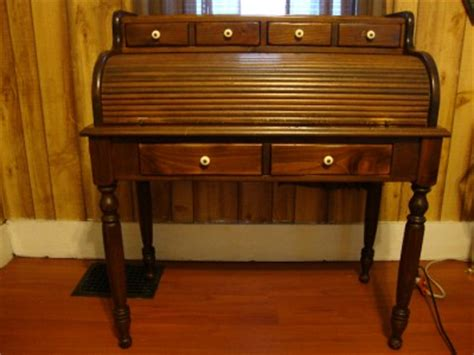 Ethan Allen Roll Top Desk by Ethan Allen Antiqued Old Tavern Pine Collection Roll Top