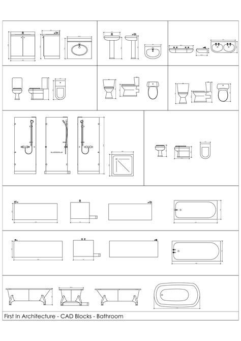 Free CAD Blocks - Bathroom