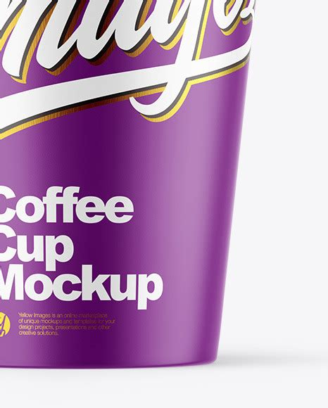 We add new mockups every day. Matte Coffee Cup Mockup in Cup & Bowl Mockups on Yellow ...