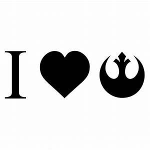 i love rebel alliance vinyl sticker car decal With kitchen colors with white cabinets with rebel alliance sticker