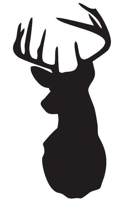 deerstag head stencil pick  size