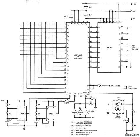 Keyboard For Prom Basic Circuit Diagram