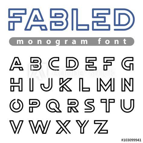 logo font vector alphabet design linear abc outline