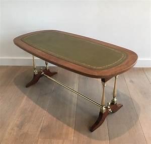 Table Basse Cuir : table basse n oclassique en bois laiton et cuir vers 1940 tables basses ~ Teatrodelosmanantiales.com Idées de Décoration