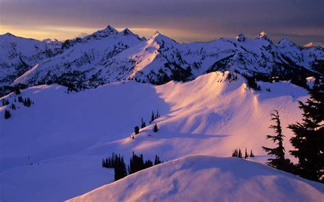Snow Mountain Sunset Wallpaper 1043663