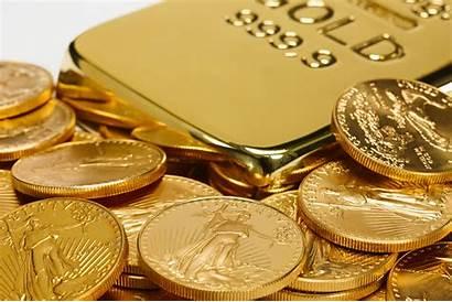 Gold Coins Falls Bars Bullion Low Ingot
