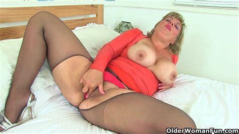 british milf danielle is dildoing her creamy pussy milf porn