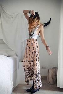 Skirt pink long skirt maxi skirt hippie moon peach boho boho skirt skull cow skulls ...