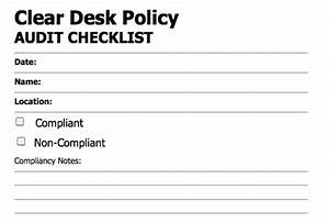 Clean Desk Policy Template InfoSec Handlers Diary Blog Cyber Security Awareness Month Day 29 Clear Desk The