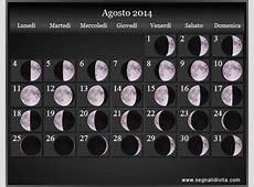 Calendario Lunare 2014 Fasi lunari