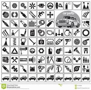 Car Parts  Tools And Accessories Stock Vector