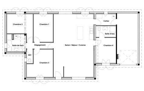 plan de maison 2 chambres plan maison 1 chambre maison ossature bois plan natiming