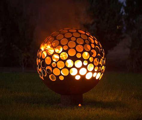ball  fire firepit home ideas