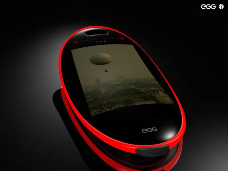 Mobile Phone Shaped Like And Egg, Sorta | Yanko Design