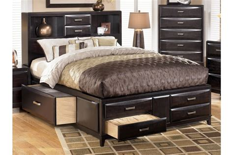 kira queen size storage bed ashley b473 home elegance usa